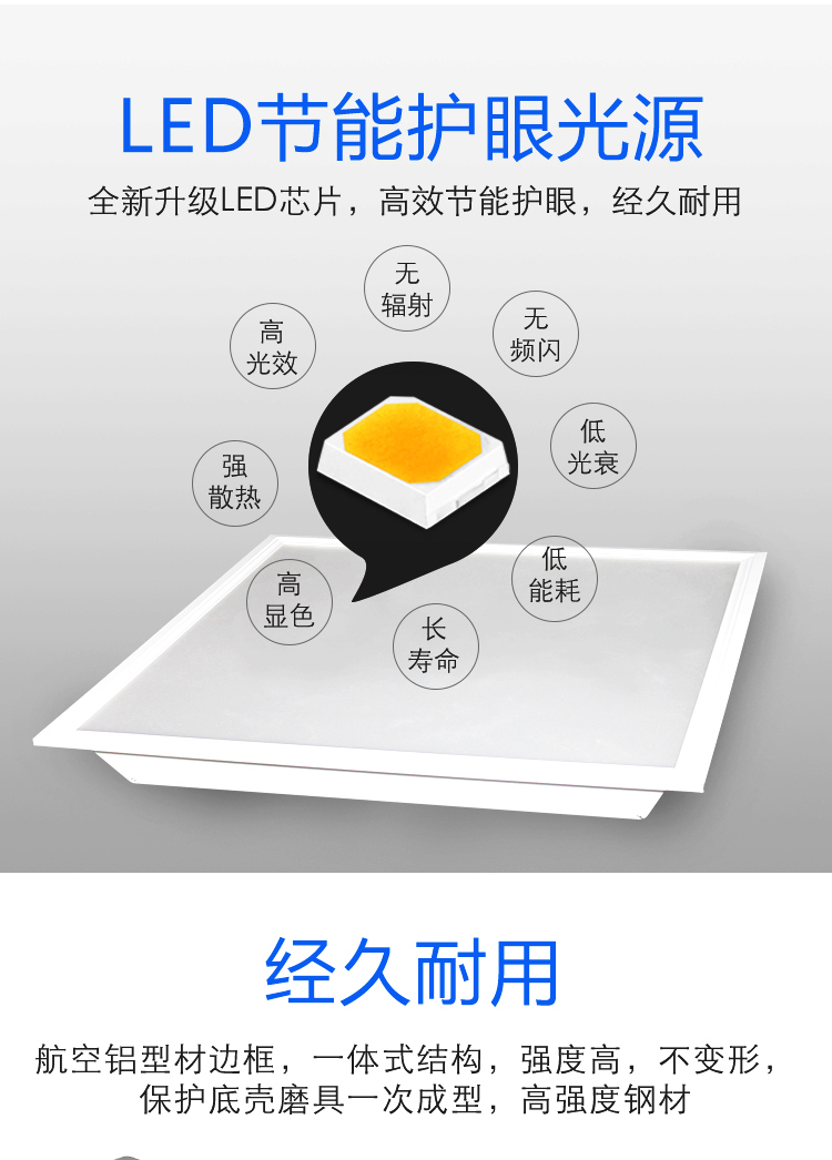 会议室办公室led微晶护眼灯600x600(图3)