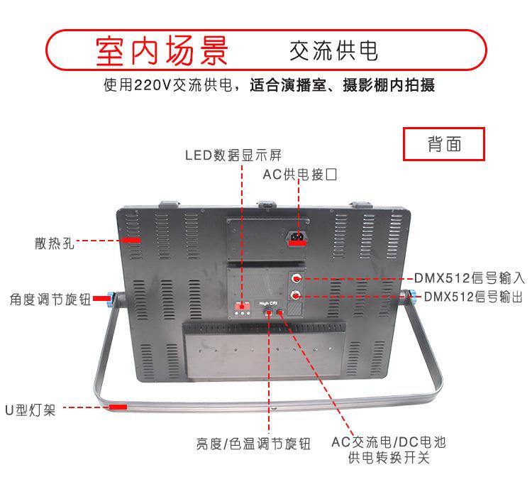 泰阳无线数字遥控TY-LED1800平板柔光灯(图4)