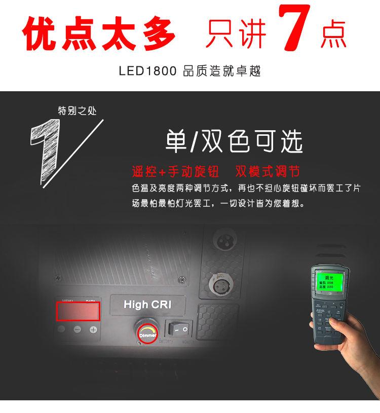 泰阳无线数字遥控TY-LED1800平板柔光灯(图6)