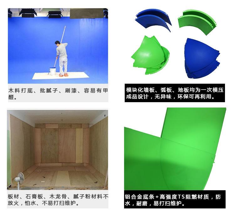 U型免漆拼接式蓝(绿)箱(图2)