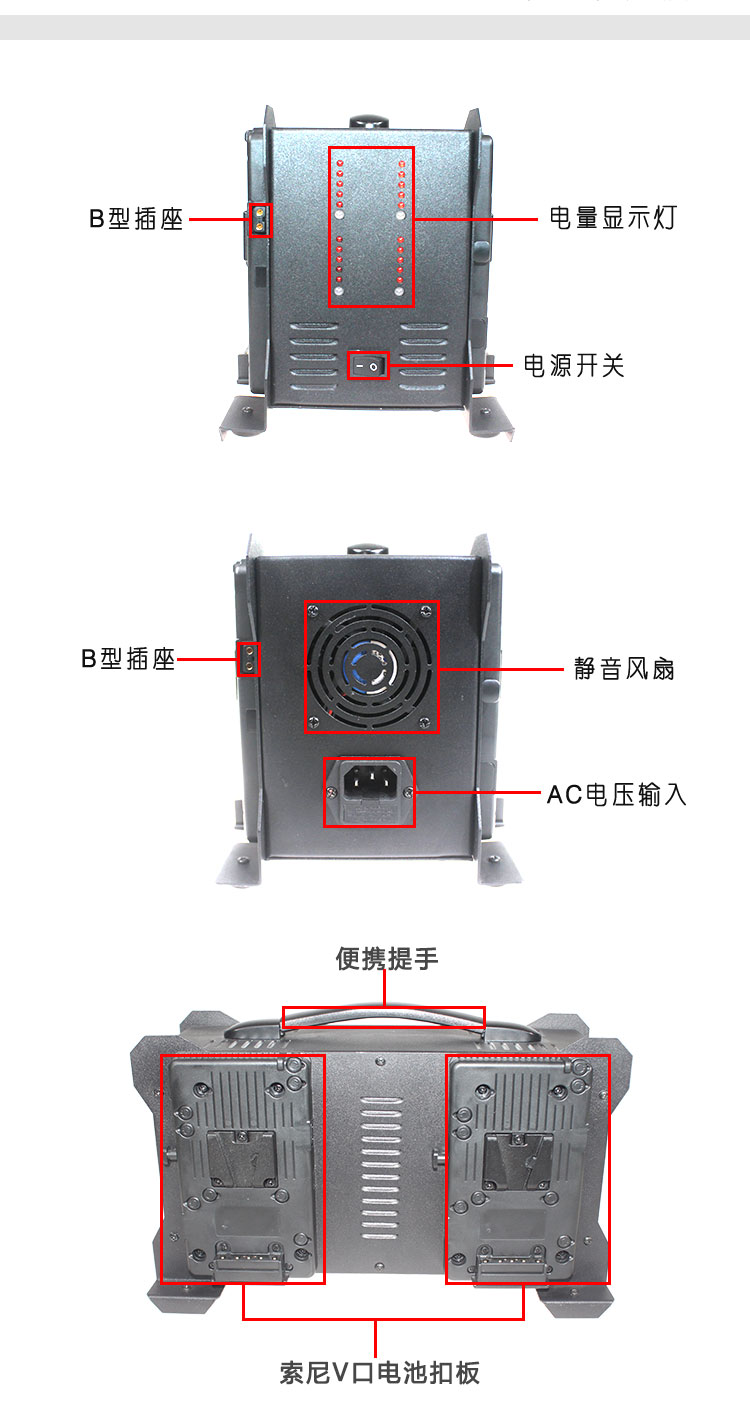 SONY四路充电适配器(图5)