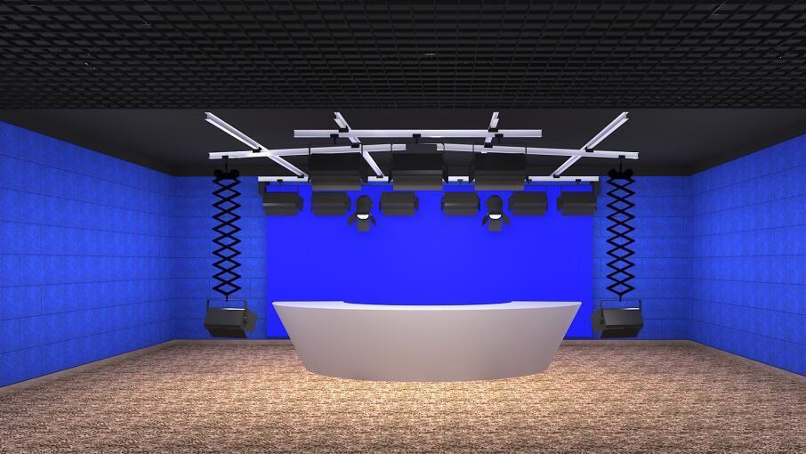 校园电视台与演播室双景区的构成(图2)