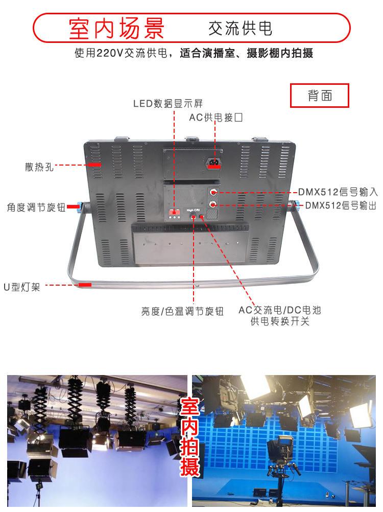 泰阳无线数字遥控TY-LED2400平板柔光灯(图4)