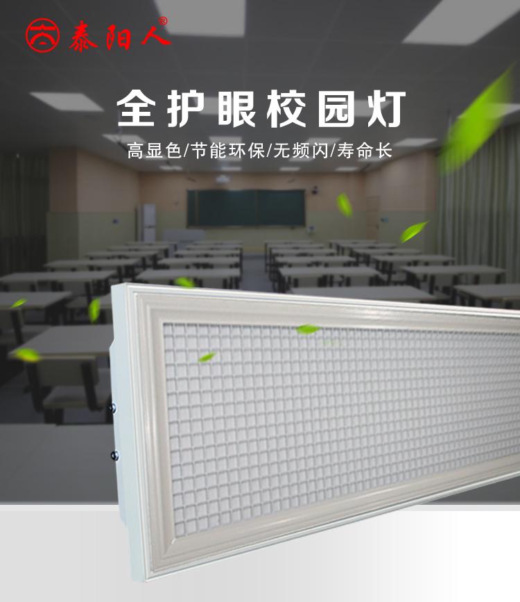 泰阳人防眩光格栅教室护眼灯(图1)