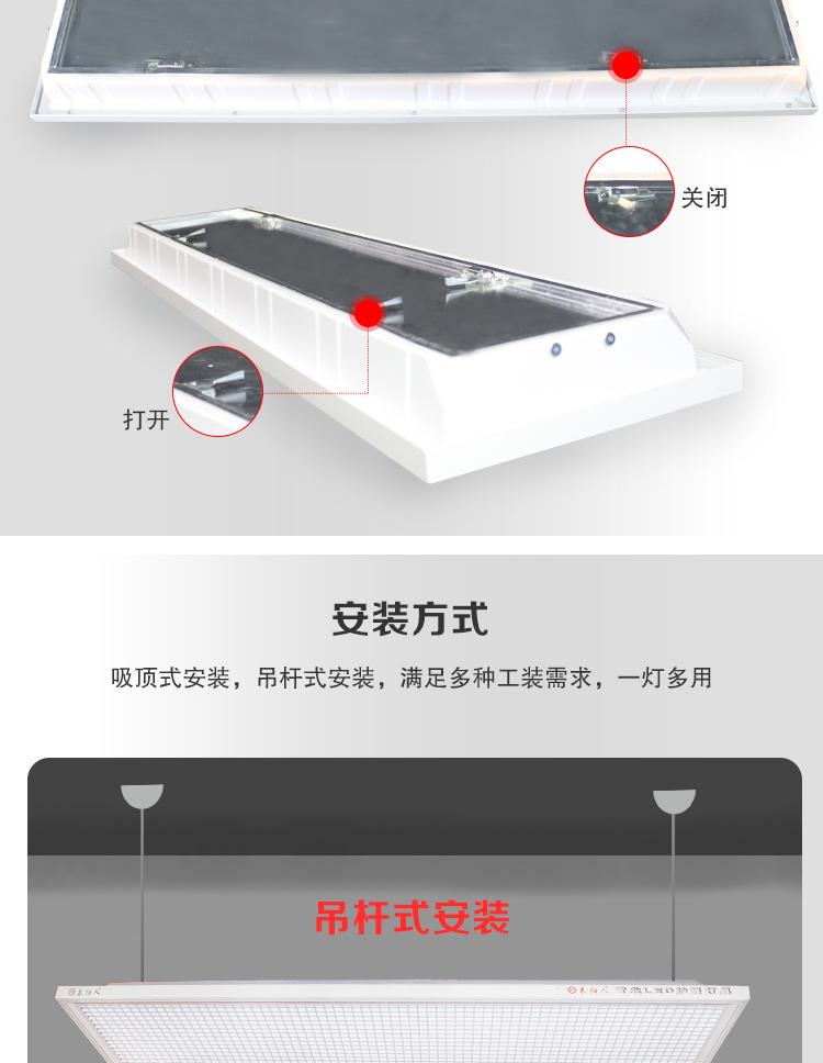 泰阳人防眩光格栅教室护眼灯(图4)