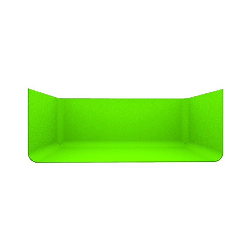 U型免漆拼接式蓝(绿)箱